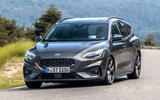 Ford Focus ST estate EcoBlue 2019 first drive review - cornering front