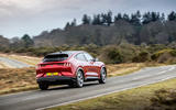 19 Ford Mustang Mach E 2021 UK first drive review cornering rear