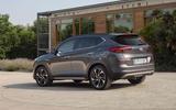 Hyundai Tucson 2.0 CRDI 48v 2018 first drive review static rear