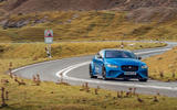 Jaguar XE SV Project 8 Touring 2019 UK first drive review - cornering front