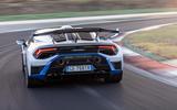 19 Lamborghini Huracan STO 2021 FD cornering rear