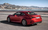 Lexus RC 300h 2019 first drive review - static rear