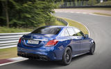 Mercedes-AMG C63 2018 first drive review track driving rear
