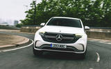 Mercedes-Benz EQC 400 2019 UK first drive review - cornering front