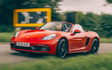 Porsche 718 Boxster GTS 4.0 2020 UK first drive review - on the road front
