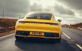 Porsche 911 Carrera 4S 2019 UK first drive review - on the road rear