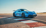 19 Porsche 911 GT3 2021 UK first drive review static front