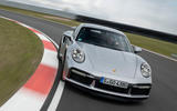Porsche 911 Turbo S 2020 first drive review - track kerbing