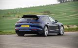 19 Porsche Panamera Turbo S E Hybrid ST 2021 UK FD cornering rear