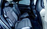 Porsche Taycan Turbo 2020 UK first drive review - rear seats
