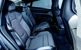 Porsche Taycan Turbo 2020 UK first drive review - rear seats