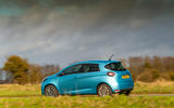 Renault Zoe 2020 UK first drive review - on the road rear