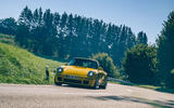 19 RUF CTR 2020 first drive review cornering front