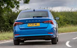 Skoda Octavia hatchback 2020 UK first drive review - on the road rear