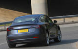 Tesla Model 3 Performance 2019 UK first drive review - on the road rear