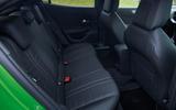 19 Vauxhall Mokka e 2021 UK first drive review rear seats