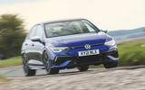 19 Volkswagen Golf R performance pack 2021 UK FD on road front