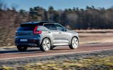 Volvo XC40 Recharge T5 2020 first drive review - on the road rear
