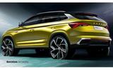 2020 Skoda Kamiq GT design sketch - rear