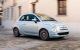 Fiat 500 Hybrid 2020 first drive review - on the road turning