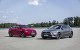 B-Class and A-Class hybrids front