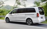 2020 Mercedes-Benz EQV revealed - driving rear