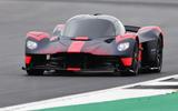 Aston Martin Valkyrie runs at the British Grand Prix