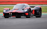 Aston Martin Valkyrie runs at the British Grand Prix