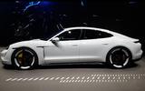 Porsche Taycan 2020 official reveal - side