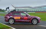 2020 Aston Martin DBX camouflaged prototype ride - static side