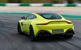 Aston Martin Vantage on the track rear