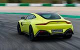 Aston Martin Vantage on the track rear