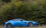 Aston Martin Vantage manual 2019 first drive review - hero side