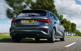 Audi A3 Sportback 2020 UK first drive review - hero rear