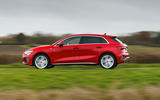 Audi A3 TFSIe 2020 UK first drive review - hero side
