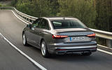 Audi A4 2019 first drive review - hero rear