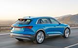 Audi E-tron 2019 official reveal action rear