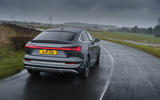 2 Audi E tron S Sportback 2021 UK first drive review hero rear