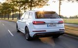 Audi Q7 TFSI e 2019 first drive review - hero rear
