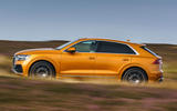 2 Audi Q8 TFSI e 2021 uk FD hero side