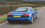 Audi R8 2019 UK first drive review - tracking rear