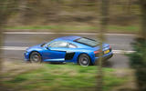 Audi R8 RWD 2020 UK first drive review - tracking side