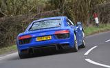 Audi R8 RWS 2018 UK review on the road rear