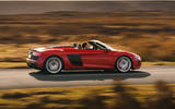 Audi R8 Spyder 2019 UK first drive review - hero side