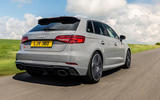 Audi RS3 Sportback 2019 UK first drive review - hero rear
