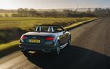 Audi TT Roadster 2019 UK first drive review - hero rear