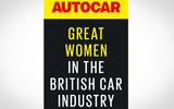 Autocar Great Women initiative logo