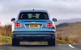 Bentley Bentayga Hybrid 2020 UK first drive review - hero rear