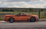 Bentley Continental GT Convertible V8 2020 UK first drive review - hero side