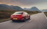 2 Bentley Fyling Spur V8 2021 UK review hero rear